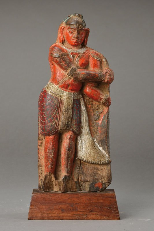 Sculpture, South India, 19th cent., Wood,