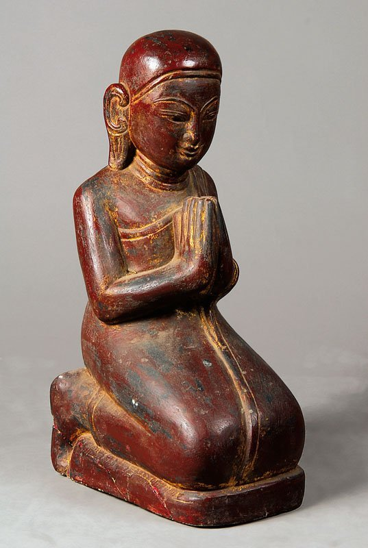Worshiper, Burma, after the model of the 18th century,