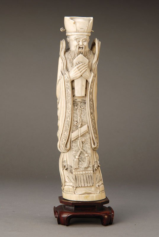 Large ivory carving, China, in 1900,