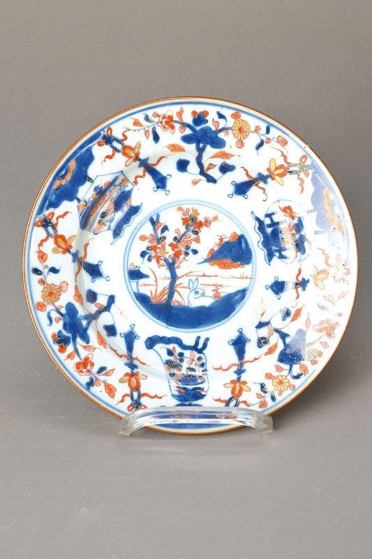 Plate, China, in 1780, landscape decor,