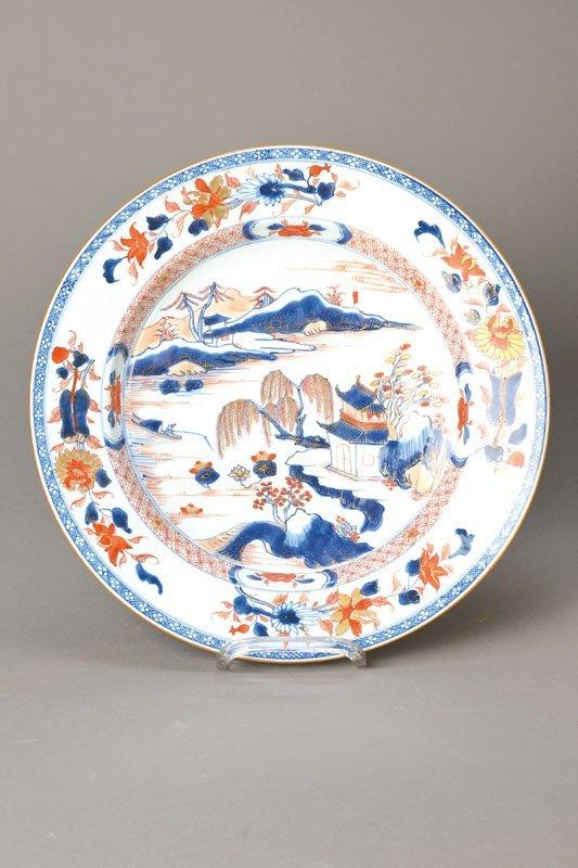 Plate, China in 1780, landscae decor,