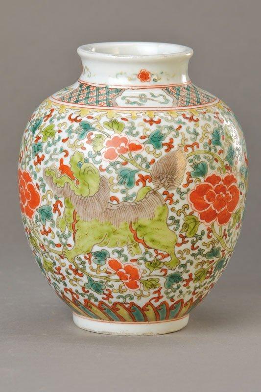 Baluster vase, China, to 1860/70,