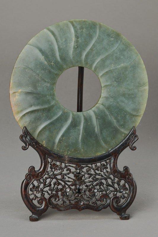 Pi-disc, China, probably 12th-13th AD, Jade,