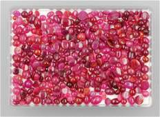 Lot loose ruby cabochons total approx 15000 ct