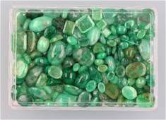 Lot loose emeralds total approx 30008 ct