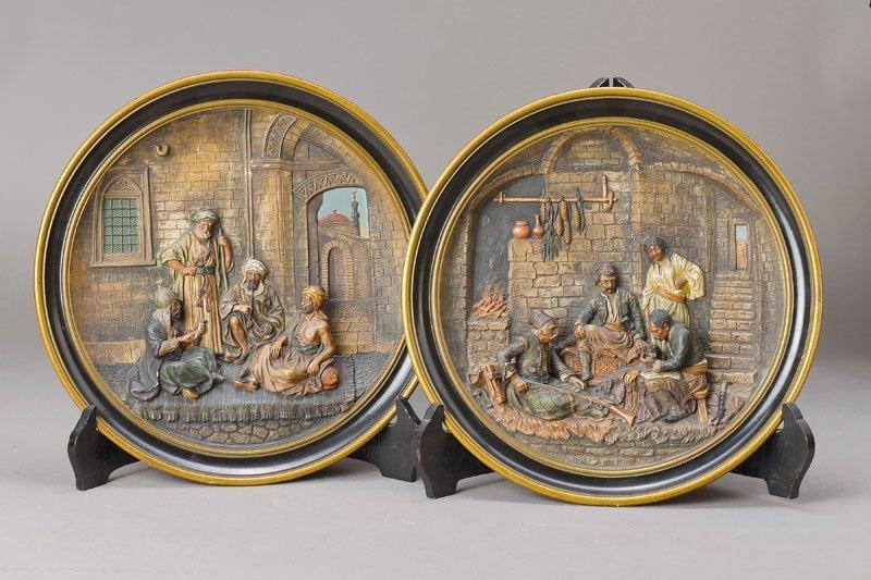 Pair of wall plates, Johann Maresch, Baehr & Maresch