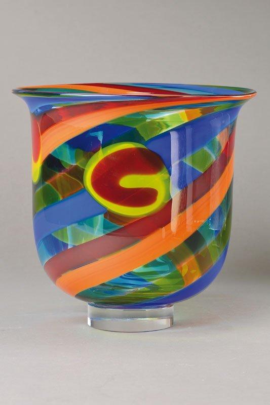 Vessel, Salvati, Murano, 1970s, glass