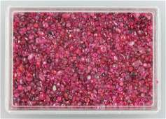Lot loose rubies total approx 50000 ct