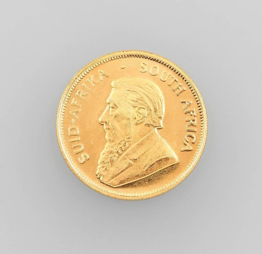 Gold coin, 1/2 Krügerrand, South Africa 1984, Fyngoud