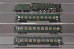 Märklin HO, passenger train, steam engine