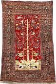 Silk Heriz 'Tree Of Life', Northwest Persia, mid. 19th