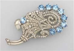 Costume jewellery brooch, Eisenberg 1945