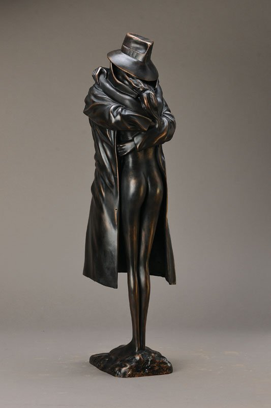 Bruno Bruni, born 1935, Amanti, bronze sculpture