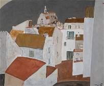Shigeyoshi Koyama, born 1940, city view, oil/canvas