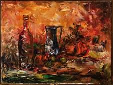 Emil Kos, born 1942, still life, oil/canvas