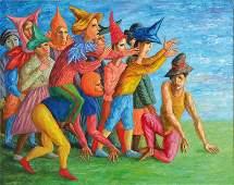 Vladimir Bogdanov, born in 1955 Moscow, oil on canvas