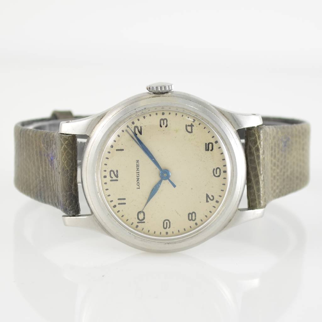LONGINES gent's wristwatch in stainless steel, manual