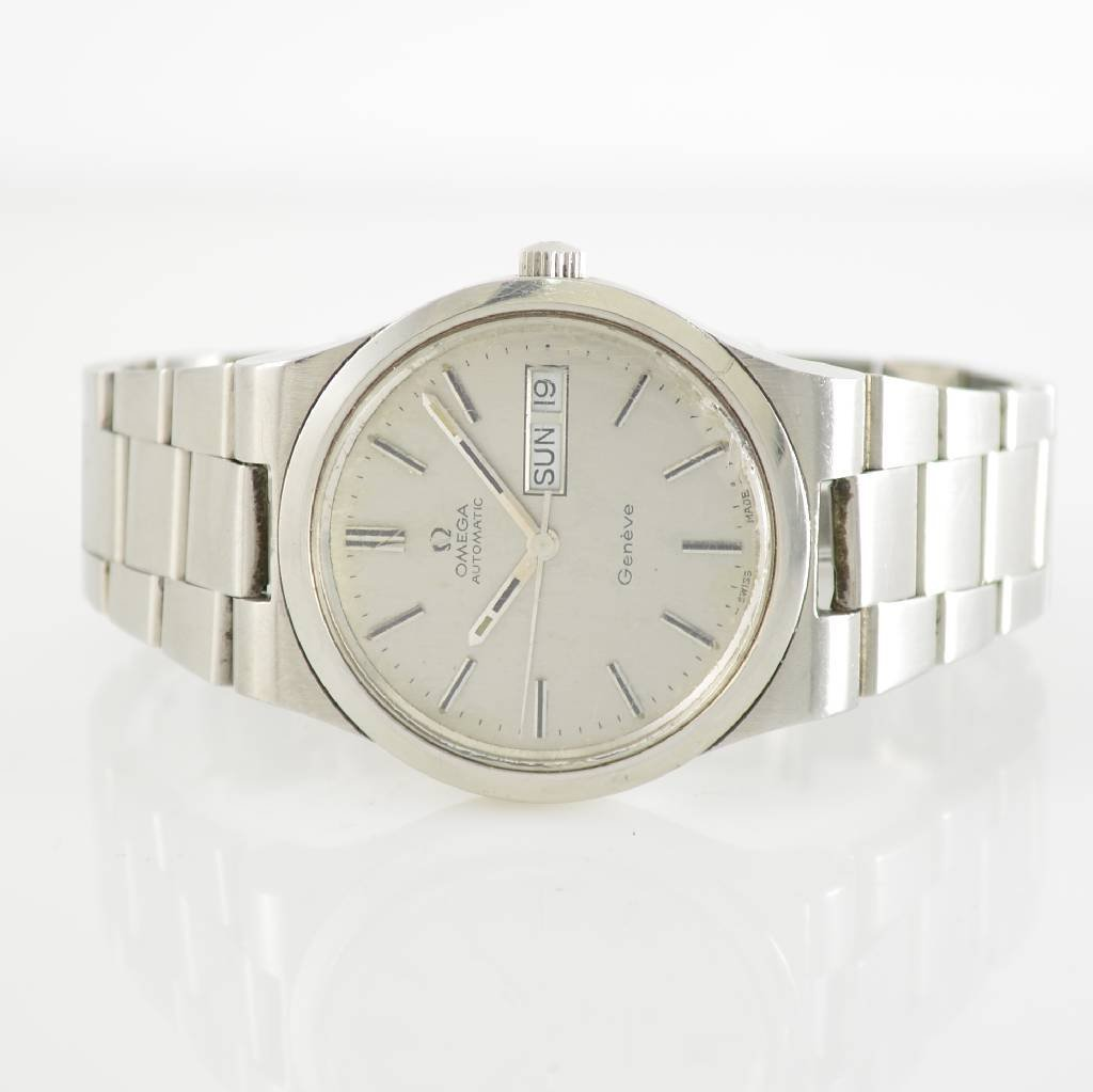OMEGA Geneve gent's wristwatch in stainless steel