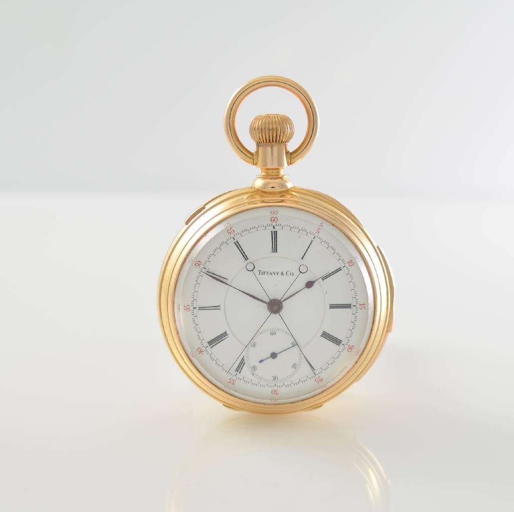 TIFFANY & Co. very fine & rare 18k pocket watch