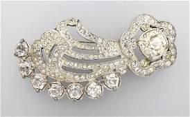 Big costume jewelry brooch, EISENBERG ORIGINAL