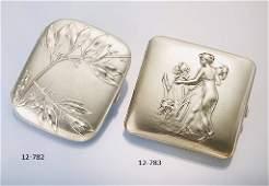 Silver cigarette case, german approx. 1900s,