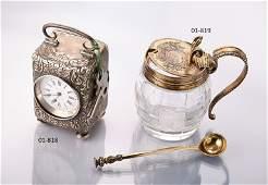 Silver mustard pot, England, London 1863,