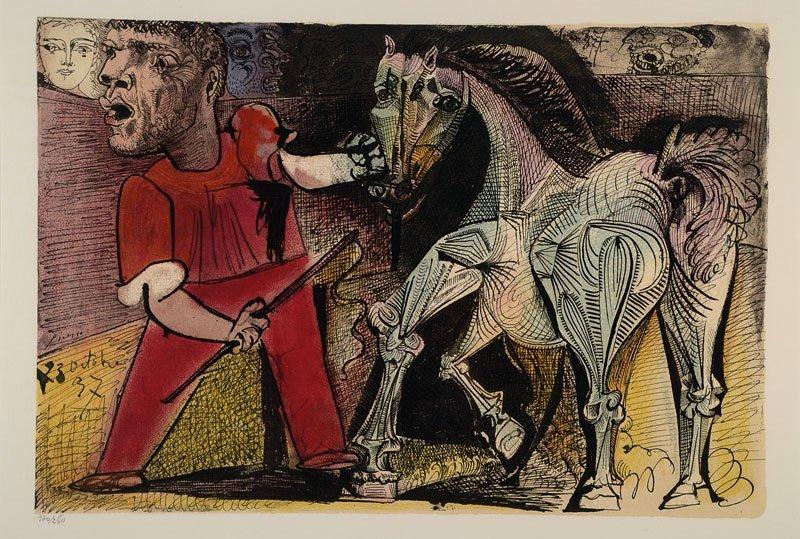 Pablo Picasso, 1881-1973, color lithograph