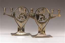 Pair of candlesticks, WMF Geislingen