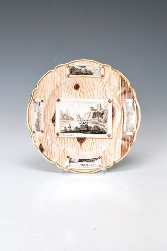Plate, Nymphenburg, 18th C.