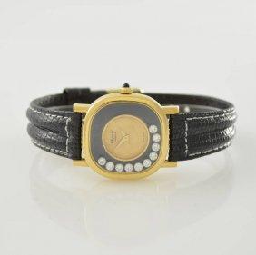 Chopard 18k Yellow Gold Ladies Wristwatch Happy