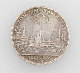 Silver Coin, Taler, Nuremberg, 1765