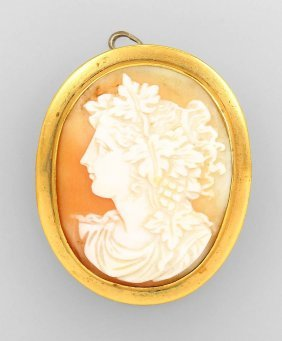 Pendant/brooch With Cameo, German Approx. 1870