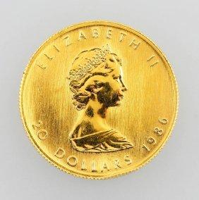 Gold Coin, 20 Dollars, Canada, 1986