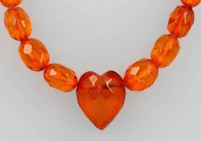 Long Chain Made Of Amber