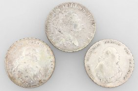 Lot 3 Silver Coins, Prussia