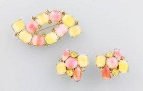 Set Of Jewelry With Rhine Stones