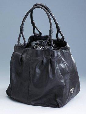 Prada Bag, Fine, Soft Nappa Leather, Black, 2 Handles