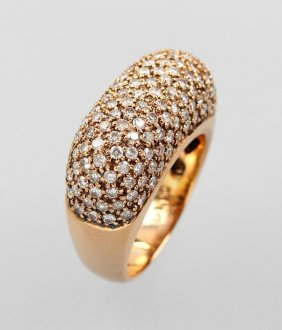 18 Kt Gold Ring With Brilliants, Rg 750/000, Brilliants