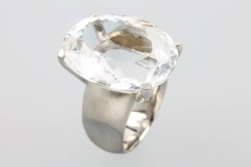 Silver Ring With Rock Crystal