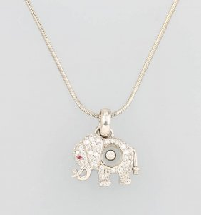 18 Kt Gold Chopard Pendant 'elephant' Happy Diamond
