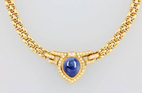 18 Kt Gold Necklace With Tanzanite And Brilliants