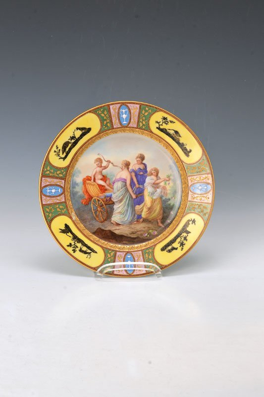 plate, Vienna, around 1800