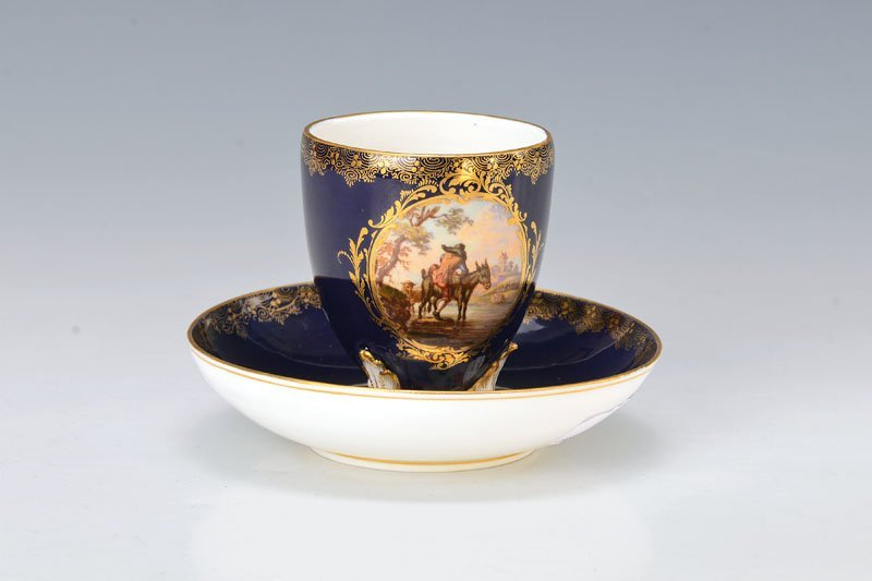 cup with saucer, Meissen, around 1880