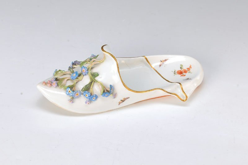 slipper, Meissen, around 1890