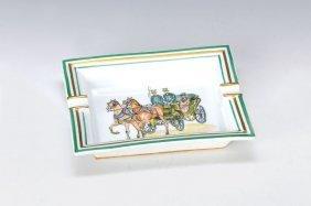 Ash-tray, Hermes, Paris, Porcelain