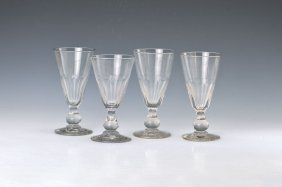 6 Large Absinth Glasses, France