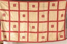 Antique silk blanket