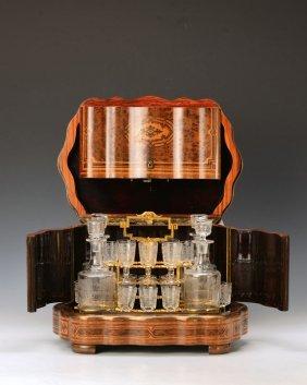 Liquor Set In Wooden Box