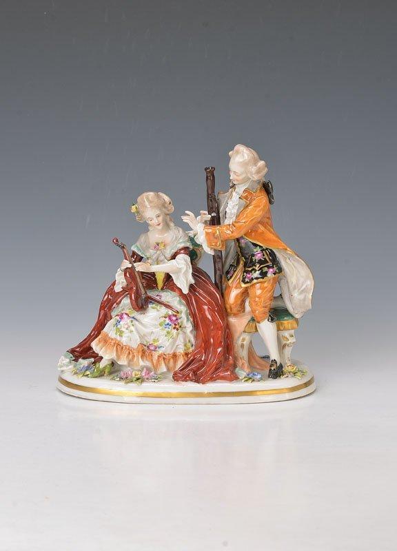 porcelain group, Volkstedt
