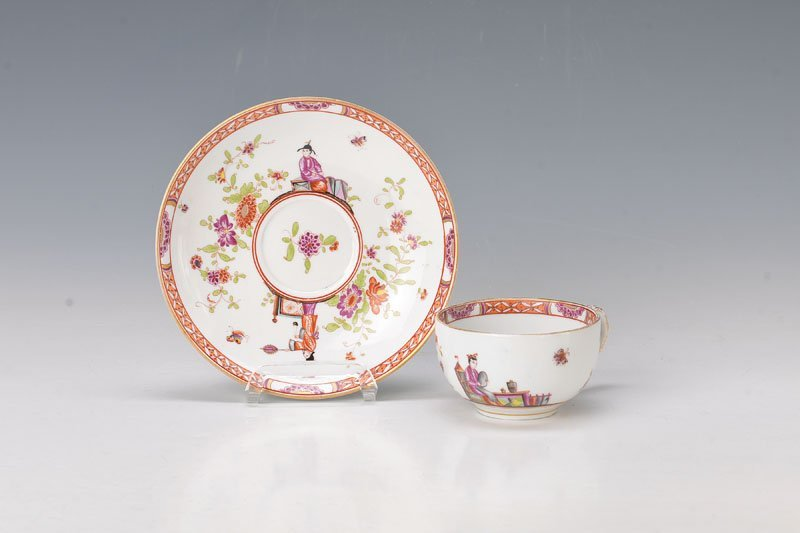 cup with saucer, Meissen